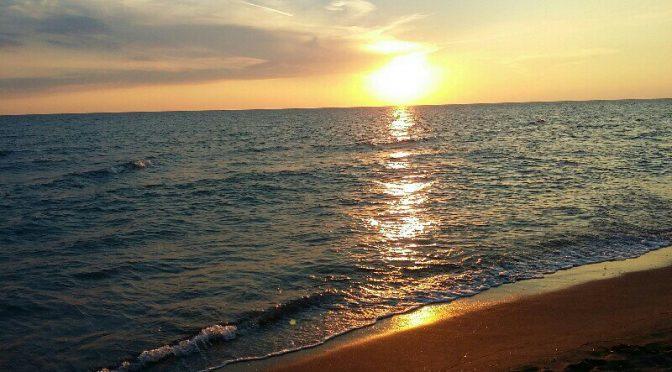 Tramonto sul mare di Donoratico