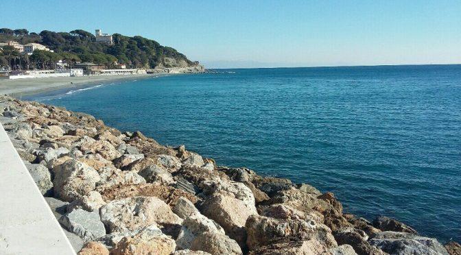 Riviera Liguria di Ponente un giorno dopo la nevicata