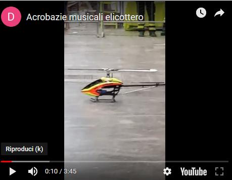 elicottero radiocomandato da 6Kw che danza