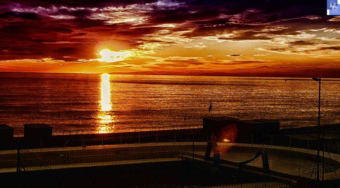 26 Dicembre: tramonto sul mare di Genova