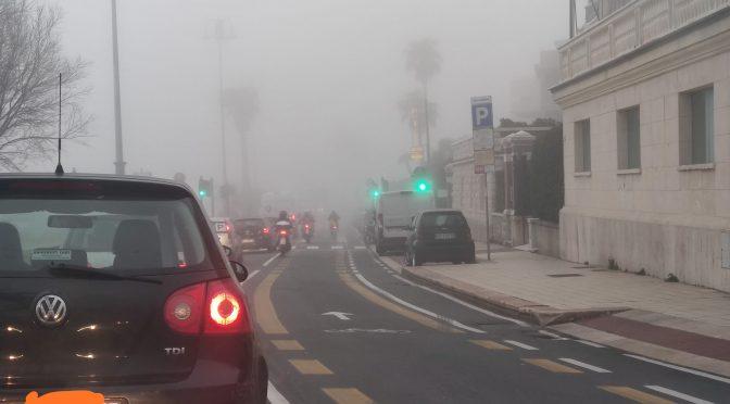 Oggi nebbione su Genova
